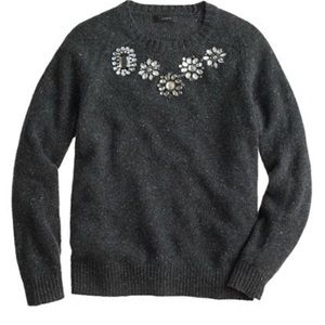 J. Crew   Dark Gray Embellished Donegal Sweater S